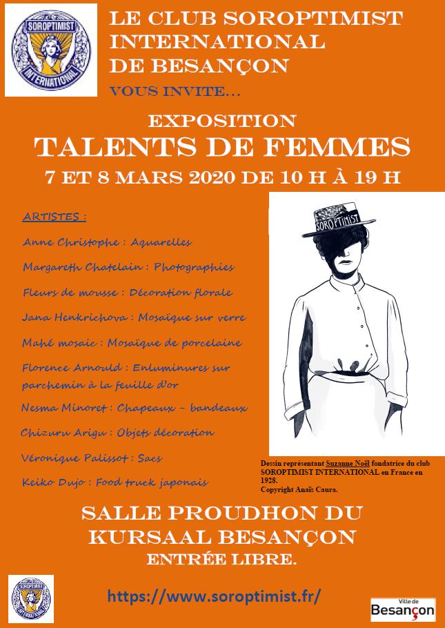 Exposition Talents De Femmes Sortir A Besancon