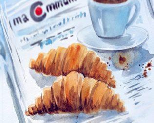Des ateliers artistiques : Le petit déjeuner